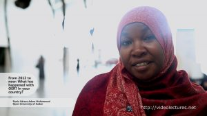 Interview with Rania Edrees Adam Mohammad, Open University of Sudan