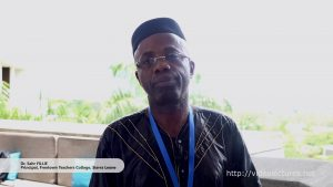 Interview with Dr. Sahr Fillie, Freetown Teachers College